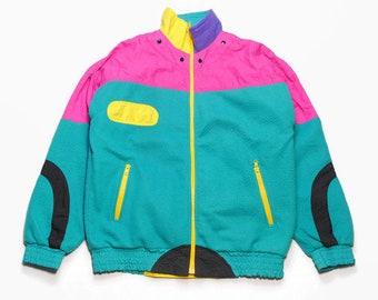 Dettagli su Vintage 90er Anni Adidas Giacca Sportiva Oldschool Rosso per Allenamento D6 M