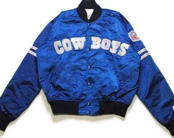 9cac3f9e0 vintage COWBOYS DALLAS NFL Pro Line Starter official product men s blue Bomber  Jacket big logo Size M authentic rare football retro unisex