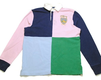 bb193ec3fa9 vintage POLO RALPH LAUREN rugby shirt longsleeve Size M men's unisex rare  authentic casual hipster retro tee long sleeve 90s 80s wear sport