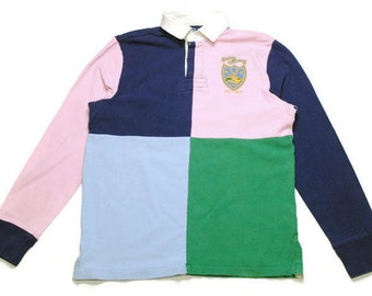296ca1122b36f8 vintage POLO RALPH LAUREN rugby shirt longsleeve Size M men s unisex rare  authentic casual hipster retro tee long sleeve 90s 80s wear sport