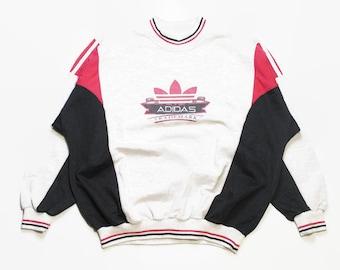 ec5cbaf891c29 Vintage ADIDAS ORIGINALS mens Nylon Hoodie Windbreaker Jacket | Etsy