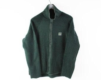 free shipping vintage HELLY HANSEN sweater hooded fleece jacket size xL