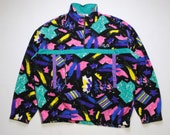 vintage FILA FLEECE Magic Line men 39 s Size XL XXl authentic sweater abstract print patterned acid 90s 80s rare retro hipster rave streetwear