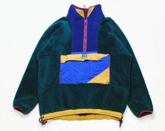 4f76d917330 vintage HELLY HANSEN FLEECE oversized men s Size Xl green authentic sweater  acid 90s 80s polar retro hipster winter rave outdoor streetwear