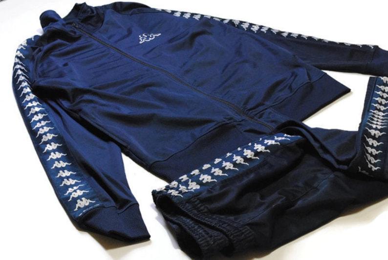 81e55797 vintage KAPPA men's Track Suit navy blue SIZE XXL authentic tracksuit  jacket pants trousers sport pin retro rare 90s 80s hipster trackpants