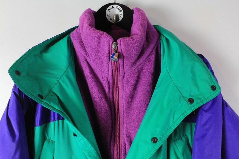 vintage K-WAY 1992 Albertville Ski Suit Jumpsuit Size SM authentic Jacket bright Nylon Coveralls 90/'s retro multicolor 92 winter games