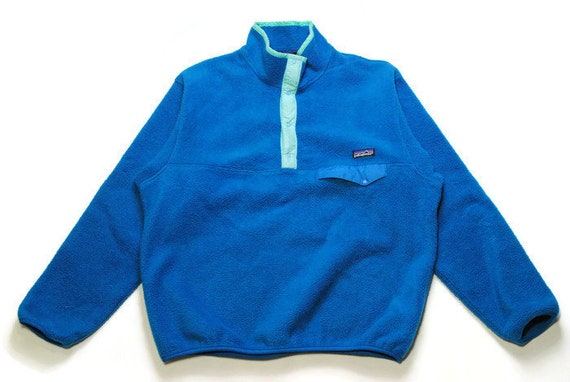 vintage PATAGONIA made in USA Fleece SIZE L men s half  2afa8d9268f9