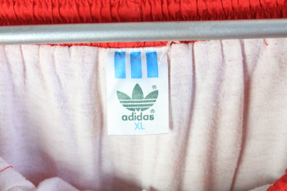 vintage ADIDAS men's Track Pants red full pant lo… - image 6