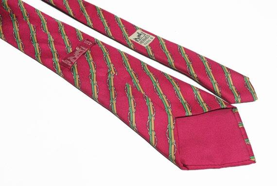 vintage HERMES men's 100% silk Tie made in France