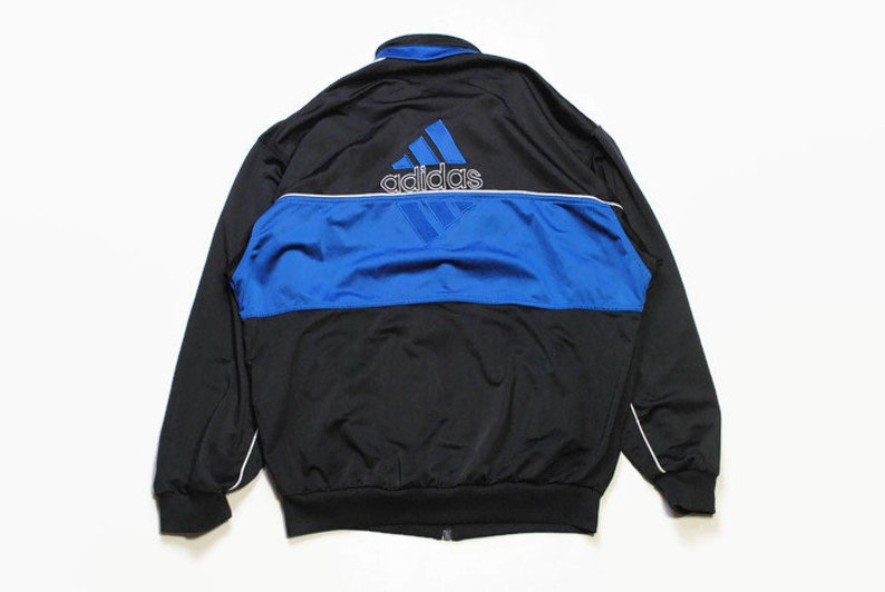41bc7c58961b1 vintage ADIDAS ORIGINALS mens track jacket SIZE L authentic rare retro  hipster 90s 80s bomber unisex oversized rave suit black wear hip hop