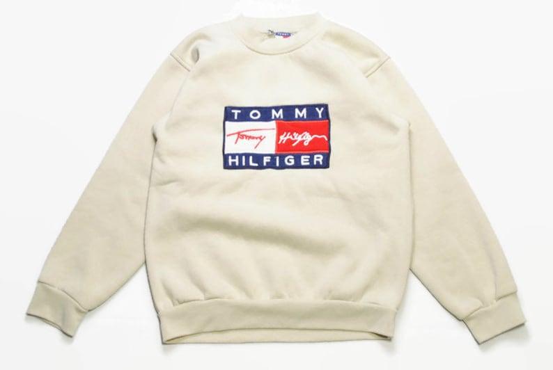 4c086c9b Vintage TOMMY HILFIGER big logo sweatshirt Size S/M mens | Etsy