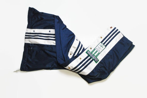 vintage ADIDAS men's Track button Pants blue green