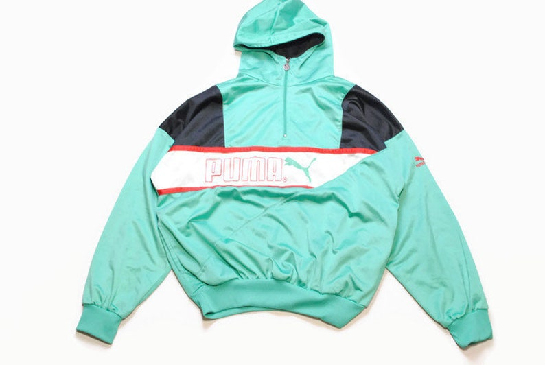 a8fcc81f04e2 Vintage PUMA mens Nylon Hoodie authentic rare retro sweat with