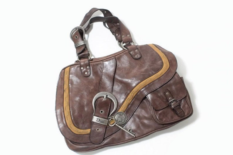 5a6d66d2828d vintage CHRISTIAN DIOR Gaucho Double Saddle Bag 05-ma-1025 serial womens  handbag... vintage CHRISTIAN DIOR Gaucho Double Saddle Bag 05-ma-1025  serial womens ...