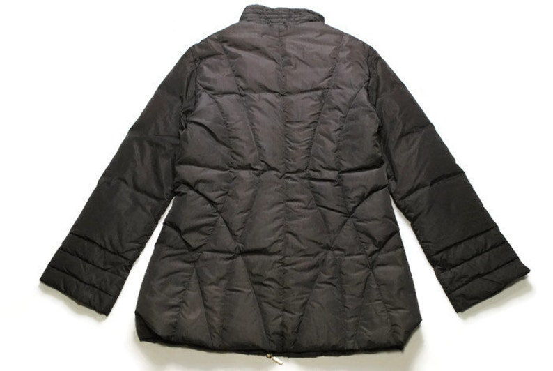 eefd84d23 vintage MONCLER authentic women's jacket SIZE 4 L/XL gray rare retro 90s  zipped frong pockets long sleeve winter warm windbreaker quilted