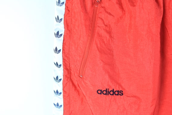 vintage ADIDAS men's Track Pants red full pant lo… - image 4