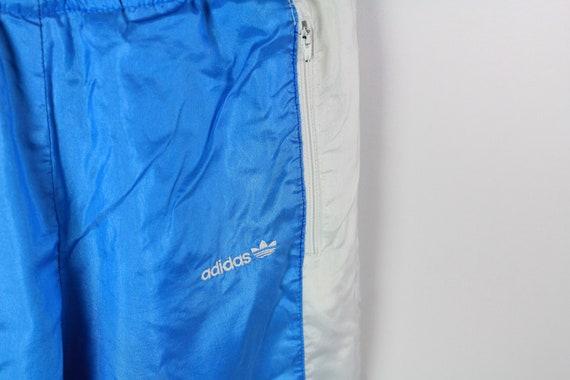vintage ADIDAS men's Track Pants blue white small… - image 4