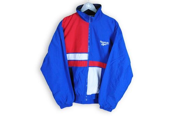 Reebok Track Top Reebok Jacket Vintage 90/'s Reebok Logo Track Jacket Made in Japan Size L