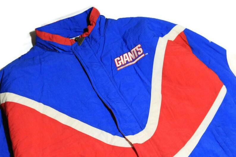Activewear Careful Nfl Ny Giants Black Zip Front Jacket Size Large