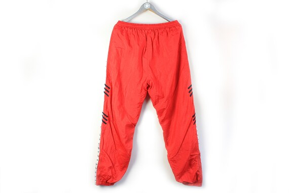 vintage ADIDAS men's Track Pants red full pant lo… - image 2