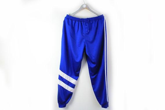 vintage ADIDAS men's Track Pants blue white small… - image 2