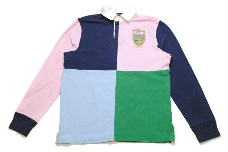905b1fd5f168d vintage POLO RALPH LAUREN rugby shirt longsleeve Size M men's unisex rare  authentic casual hipster retro tee long sleeve 90s 80s wear sport