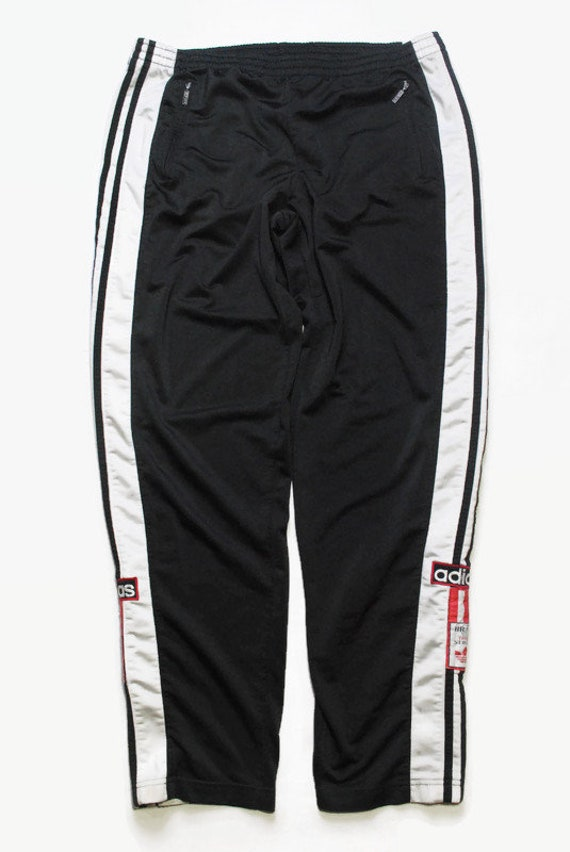 vintage ADIDAS ORIGINALS men's Track button Pants
