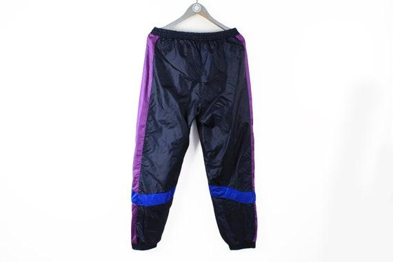 vintage ADIDAS men's Track Pants black purple log… - image 3
