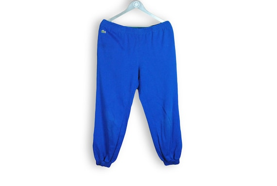 vintage LACOSTE men's Track Pants cotton blue Size