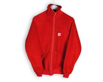 vintage HELLY HANSEN FLEECE oversized men's Size M red authentic sweater acid 90s 80s rare retro hipster winter rave outdoor warm streetwear