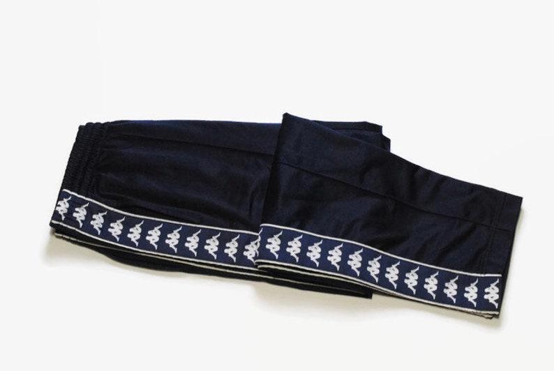 54ce6606 vintage KAPPA men's Track Pants Size M Medium navy blue full strip logo  authentic retro hipster rare trousers suit sport athletic 90s 80s