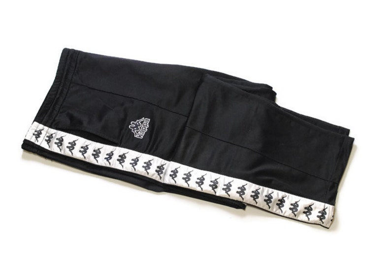 ff008724 Vintage KAPPA men's Track Pants Size YLarge xl black white   Etsy