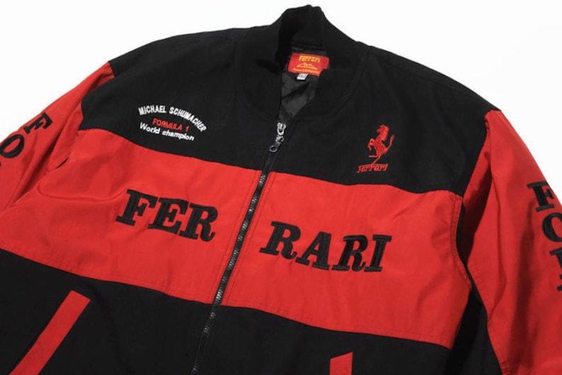 differently bfcaa 648eb Vintage FERRARI Michael Schumacher warm Bomber Jacket Size L   Etsy
