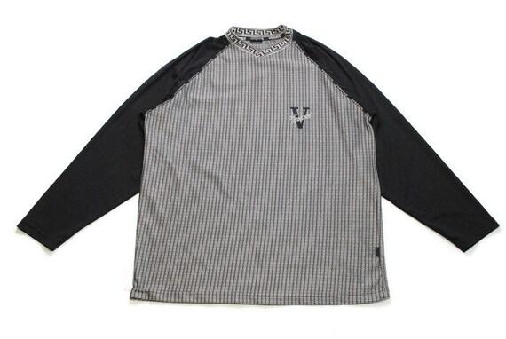 vintage VERSACE JEANS COUTURE black gray sweatshirt men s  d35f905dcc58