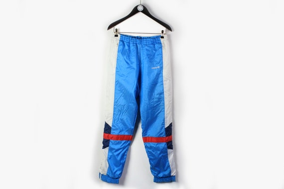 vintage ADIDAS men's Track Pants blue white small