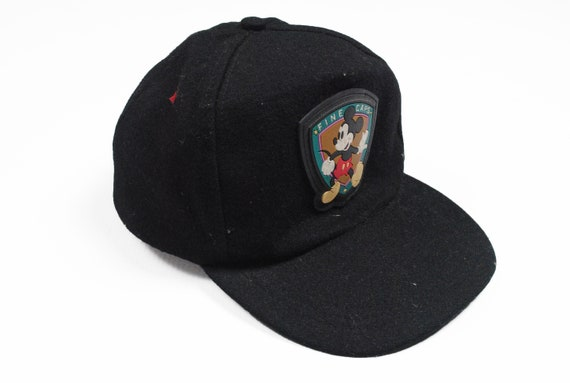 vintage MICKEY MOUSE Disney Cap authentic rare retro 90s big logo unisex hat Fine Caps Sport red style cartoon collection mascots movie red