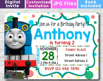 Personalized Thomas And Friends Invitation The Train Birthday Customized