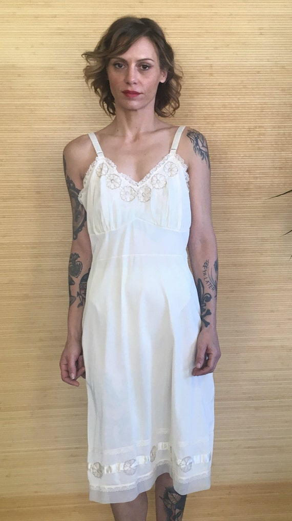 Vintage Slip Dress, Vintage Silky Slip Dress, midi