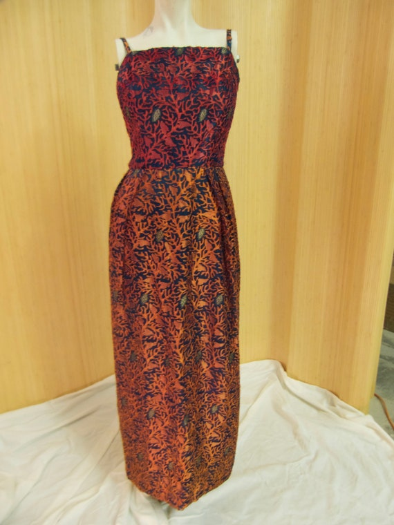 Handmade Vintage Dress with Matching Jacket, Silk