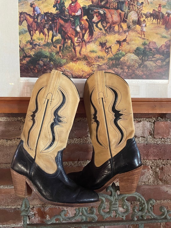 Vintage Frye cowboy boots, Cowgirl Boots, Frye Cow