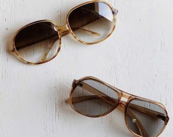 474d66f353b80 Vintage 70s Sunglasses   Oversize Sunglasses   Vintage Aviators   Tortoise  Shell Sunglass   Retro Round Sunglasses