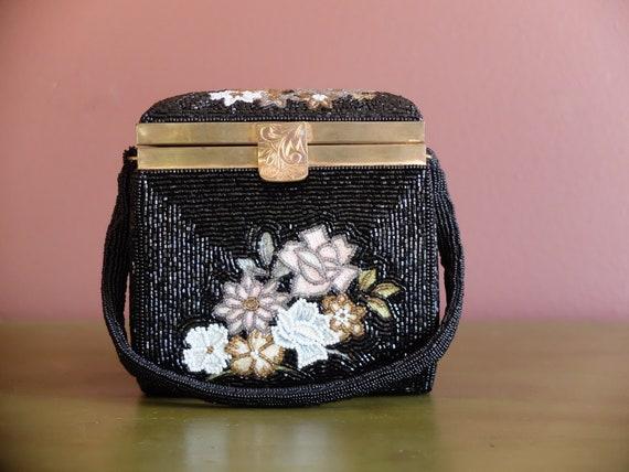 Beaded Bag / Beaded Purse / Embroidered Purse / Em