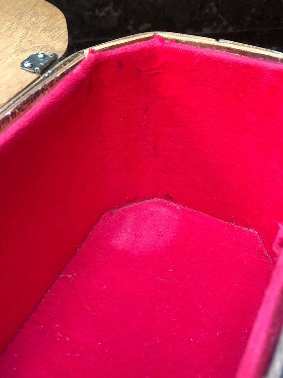 Box Purse / Strawberry / Strawberry Bag / Wooden … - image 10