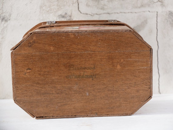 Box Purse / Strawberry / Strawberry Bag / Wooden … - image 8