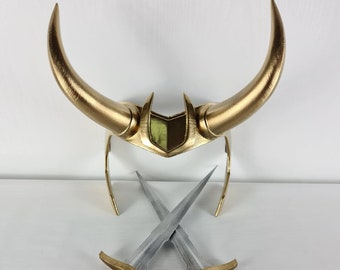Wearable Loki Horns and Dagger from Marvel TV Show 3dprinted