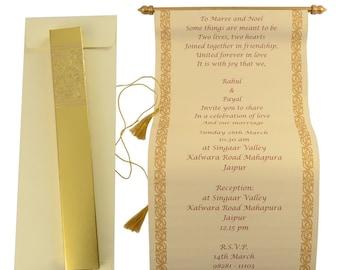 scroll invitations etsy