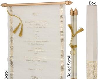 Scroll wedding invitation,Scroll invitation,engagement invitations,party invitations,bridal shower invitations,baby shower,wedding program