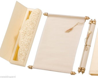 Scroll Wedding Invitation Cards Birthday Party Invite Invitation Card with Box