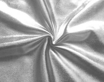 metallisch glänzend Stretch Folienjersey STOFF ROYAL BLAU 150cm breit Meterware