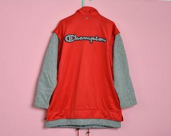 5c0d71a80ded Champion tracksuit top red Vintage sweatshirt oldschool Kid 90s Kids -  Medium - 9-10 years